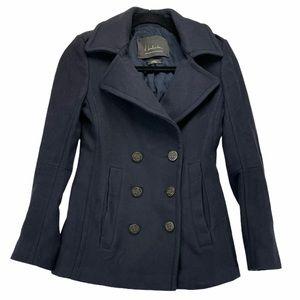 Babaton Wool Cashmere Navy Pea Coat XS